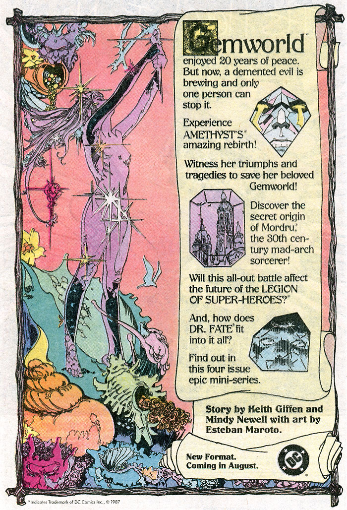 Amethyst by Giffen, Newell, Maroto advertisement