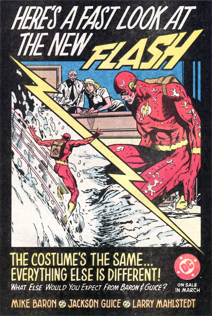 Flash by Mike Baron, Jackson Guice, and Larry Mahlstedt advertisement