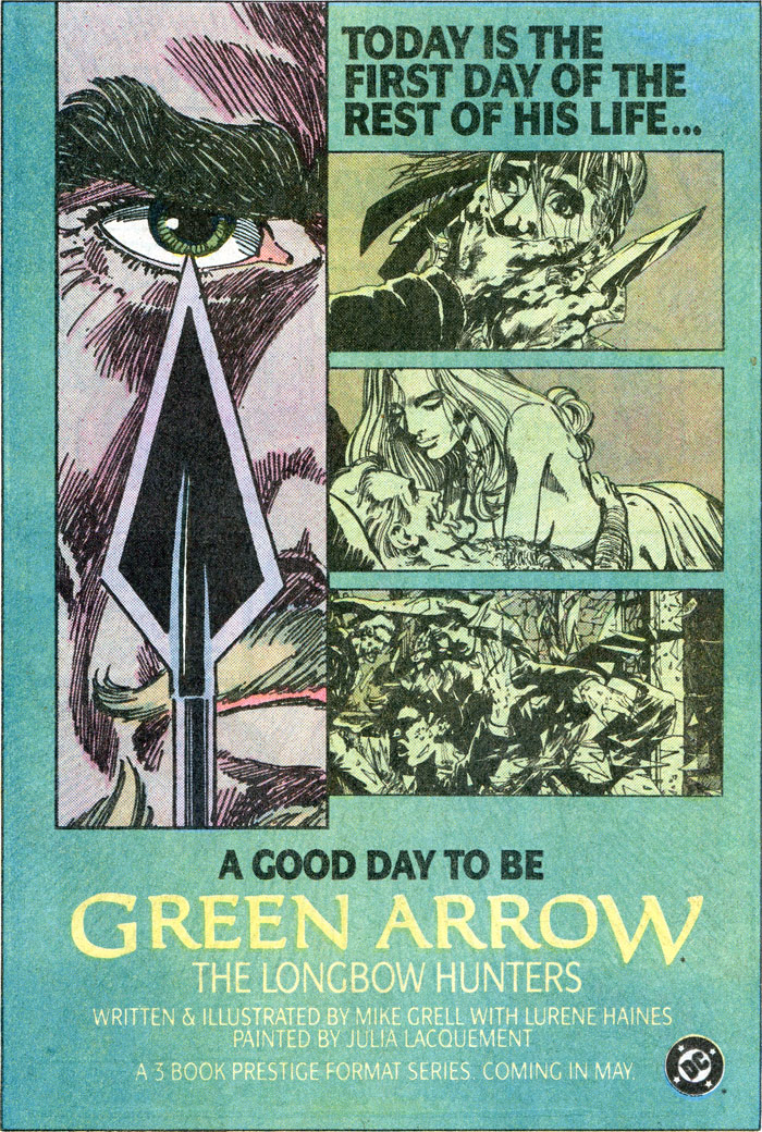 Green Arrow The Longbow Hunters by Mike Grell advertisement