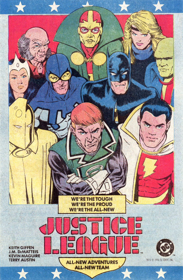 Justice League by Keith Giffen, J M DeMatteis, Kevin Maguire advertisement