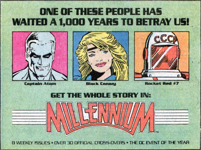 Millennium by Steve Englehart, Joe Staton, and Ian Gibson advertisement