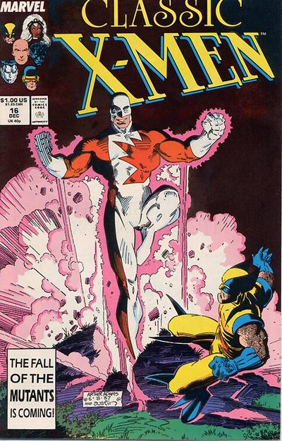 Classic X-Men #16 cover by Art Adams