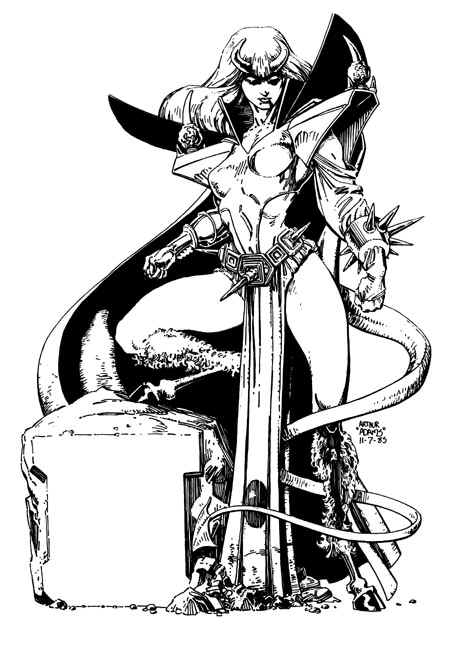 Majik as Darkchylde by Art Adams