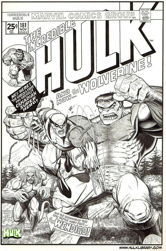 Incredible Hulk #181 with Wolverine by Art Adams