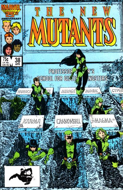 New Mutants #38 cover by Art Adams