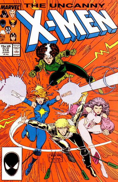 Uncanny X-Men #218 cover by Art Adams