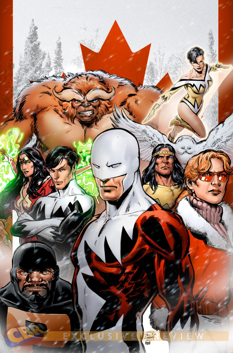 Alpha Flight variant cover by Phil Jimenez to Avengers #4