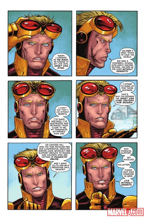 Hank Pym as the Wasp from Ant-Man & Wasp #1