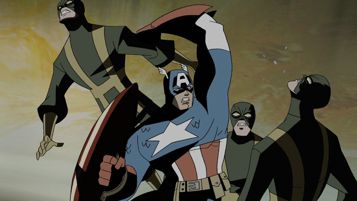 Captain America in The Avengers: Earth's Mightiest Heroes