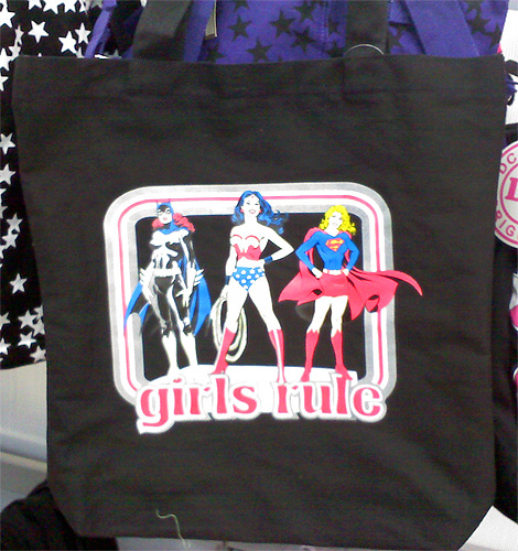 DC Heroines Girls Rule Tote Bag