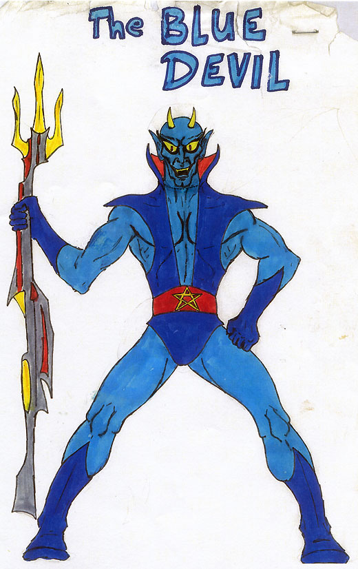 DC Comics' Blue Devil Proposal - art by co-writer Gary Cohn