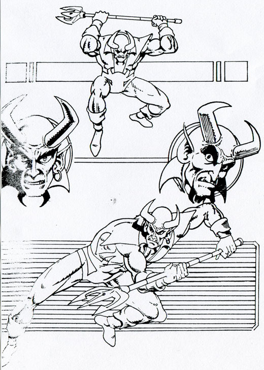 DC Comics' Blue Devil Proposal by Gary Cohn, Dan Mishkin, and Paris Cullins
