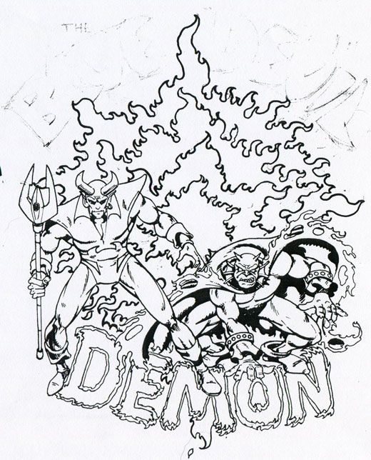 DC Comics' Blue Devil Proposal by Gary Cohn, Dan Mishkin, and Paris Cullins - Etrigan the Demon