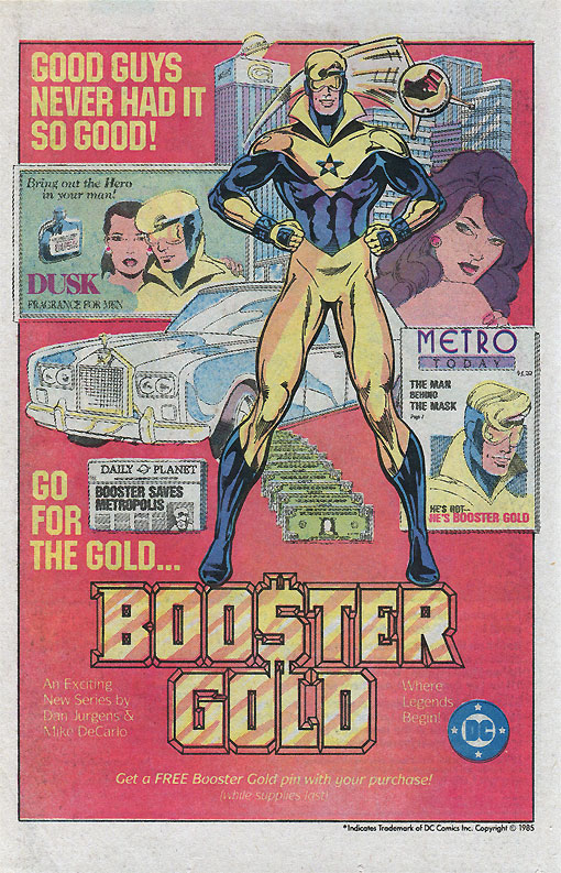 Booster Gold IS the '80s.