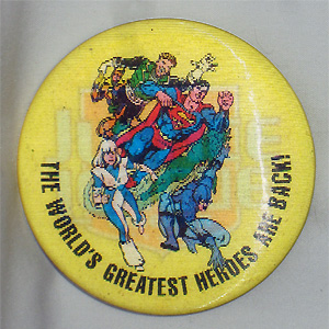 Justice League America Lenticular Button by Dan Jurgens
