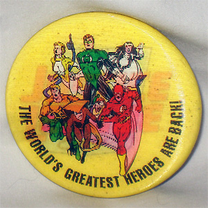 Justice League Europe Lenticular Button by Ron Randall