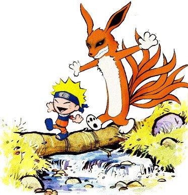 Calvin and Hobbes go Naruto
