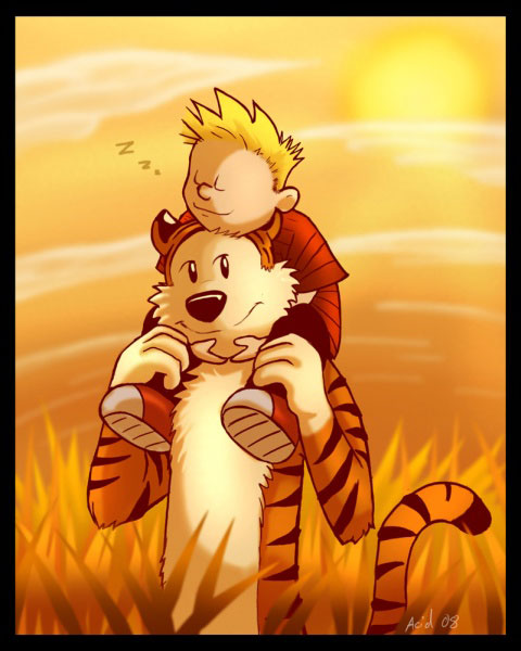 Calvin and Hobbes by Glen Y