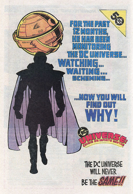 Crisis on Infinite Earths advertisement - Universe