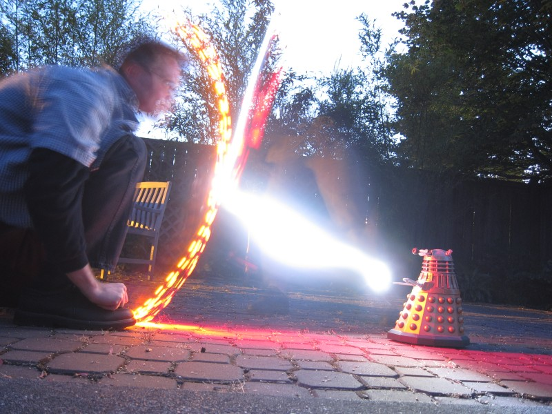 Dalek Light Painting