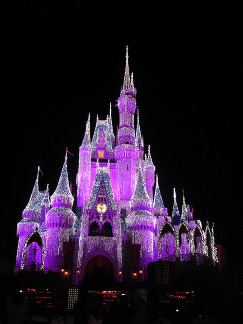 Cinderella's Castle in the Magic Kingdom at Walt Disney World in December 2010