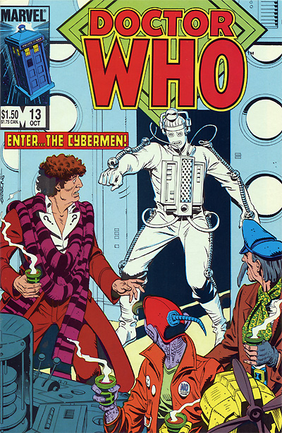 Marvel Comics Doctor Who #13 with a Cyberman by Dave Gibbons