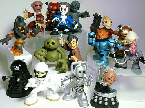 Doctor Who Dalek /& Cyberman Time squad figure