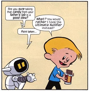 Franklin Richards and H.E.R.B.I.E.