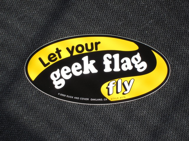 Let Your Geek Flag Fly bumper sticker