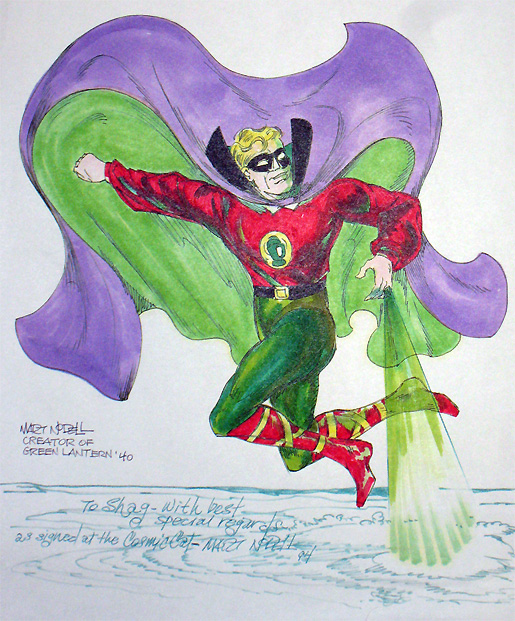 Golden Age Green Lantern drawing by Marty Nodell
