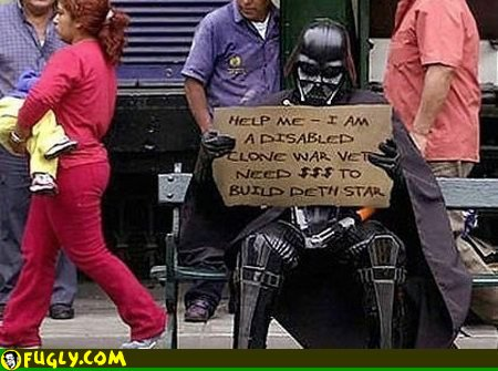 Star Wars: Homeless Darth Vader