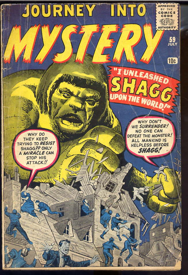 I Unleashed Shagg Upon the World by Jack Kirby