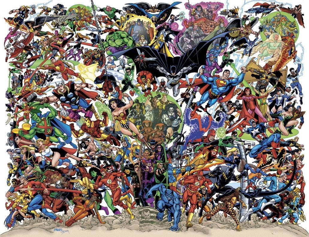 Marvel/DC JLA/Avengers Crossover by George Perez