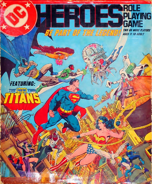 Mayfair DC Heroes Role-Playing Game Box Set 1985 First Edition - art by George Perez