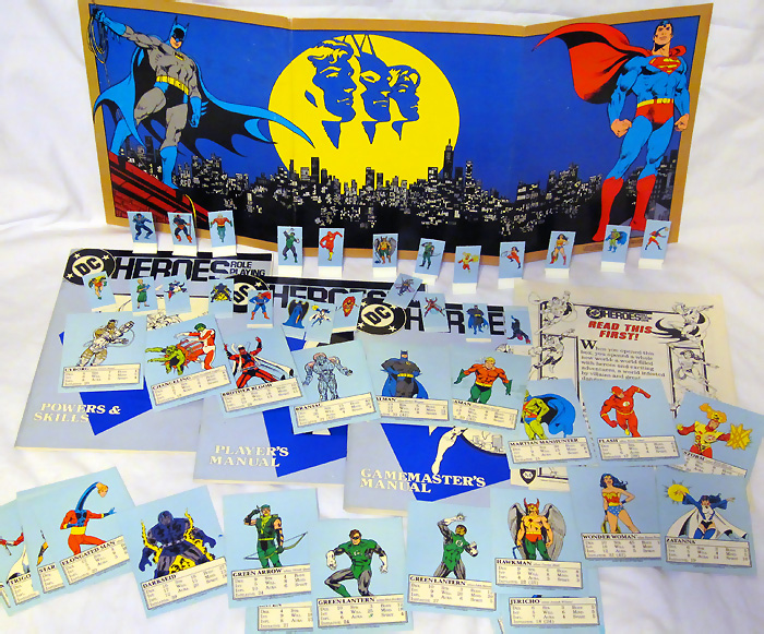 Mayfair DC Heroes Role-Playing Game Box Set 1985 First Edition