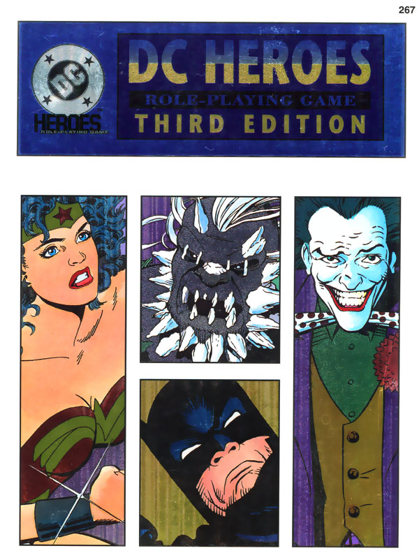 Mayfair DC Heroes RPG 1993 Third Edition