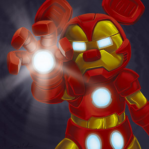 Mickey Mouse as Iron Man