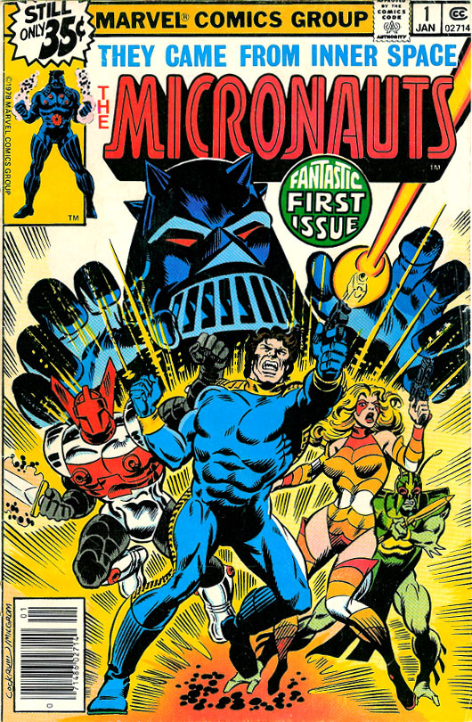 Micronauts #1 cover from Marvel Comics by Dave Cockrum and Al Milgrom