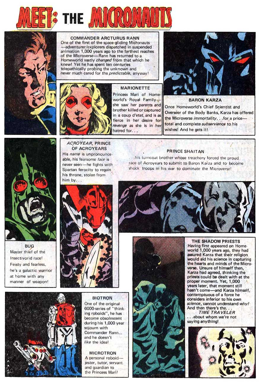 Meet the Micronauts by Bill Mantlo, Michael Golden, and Joe Rubinstein