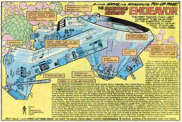 Micronauts Endeavor by Bill Mantlo, Michael Golden, and Joe Rubinstein