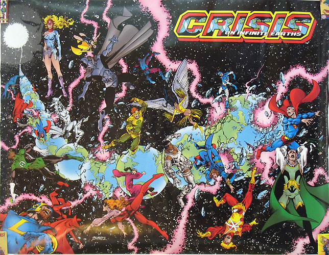 Crisis on Infinite Earths #1 poster by George Perez