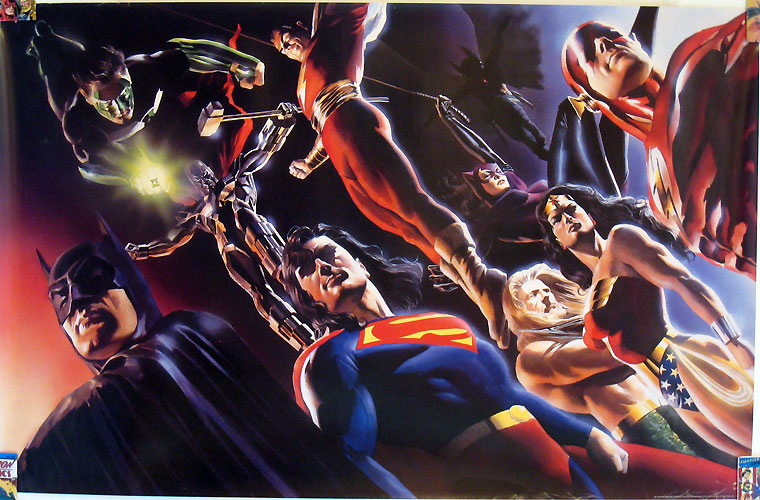Mid-90s DC Universe by Alex Ross