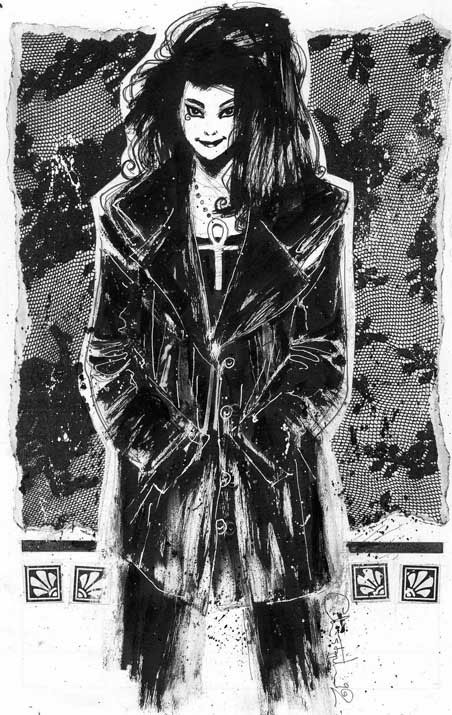 Sandman's Death poster by Chris Bachalo