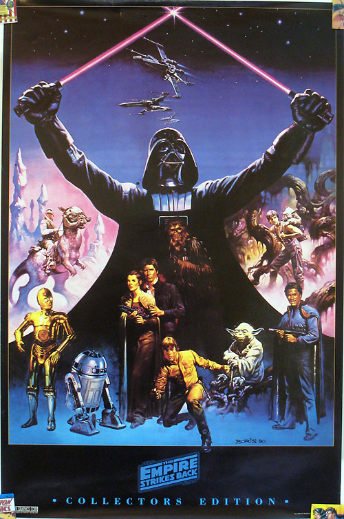 Empire Strikes Back Collector's Edition poster by Boris Vallejo