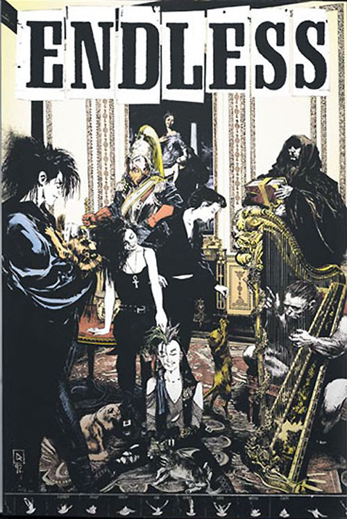 Sandman Endless poster by Mike Dringenberg - Family Snap Shot Or Still Life With Cats