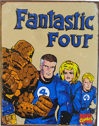 Fantastic Four tin sign