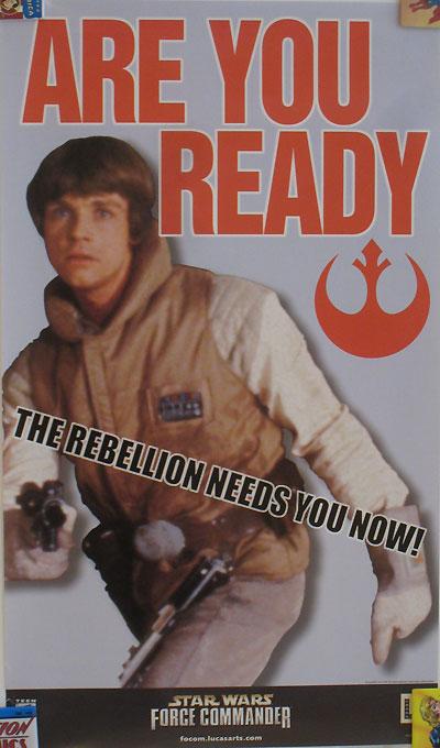 Star Wars Force Commander Recruitment Poster - Luke Skywalker