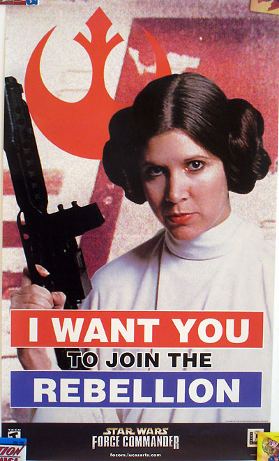 Star Wars Force Commander Recruitment Poster - Princess Leia