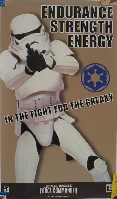 Star Wars Force Commander Recruitment Poster - Stormtrooper