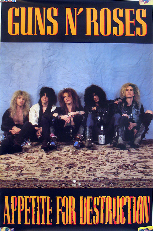 Guns N' Roses Appetite for Destruction poster
